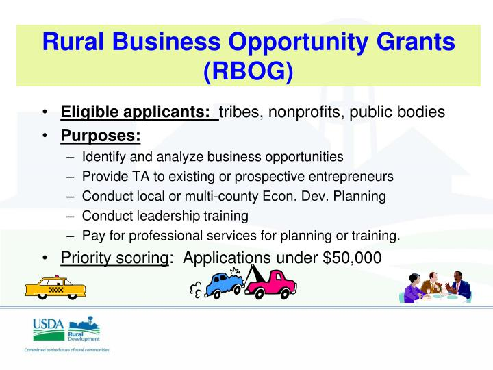 Rural Business Opportunity Grants (RBOG)