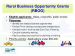 rural business opportunity grants rbog