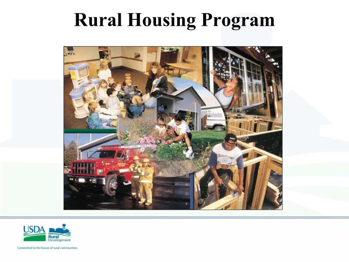 Rural Housing Program