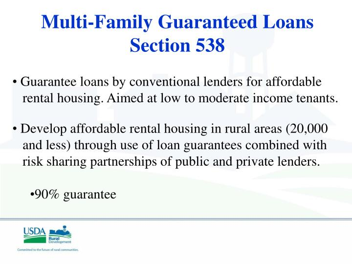 Multi-Family Guaranteed Loans Section 538