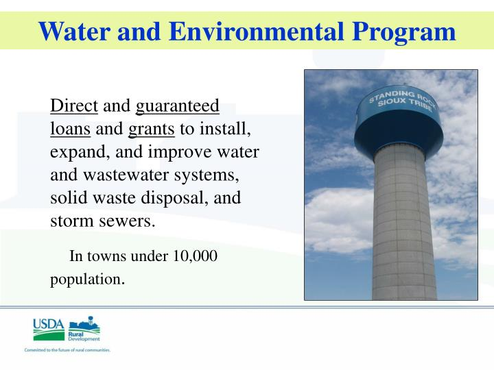 Water and Environmental Program