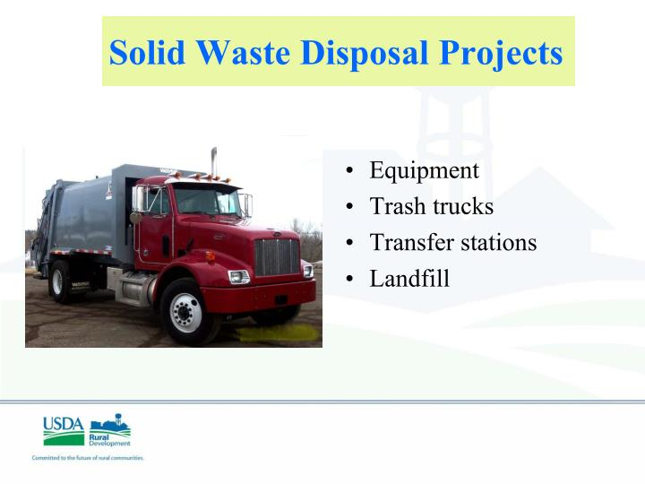 Solid Waste Disposal Projects