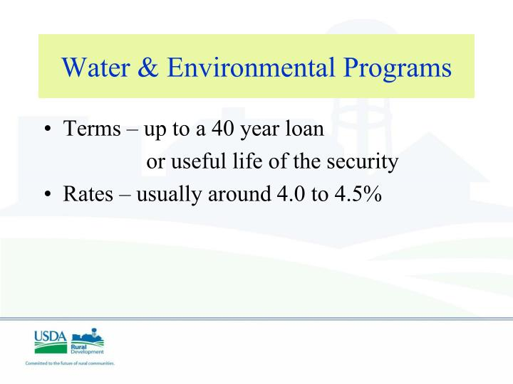 Water & Environmental Programs