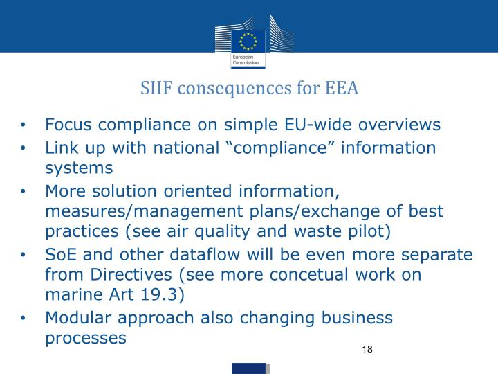 SIIF consequences for EEA