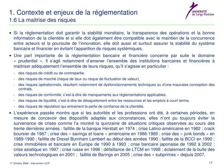 1. Contexte et enjeux de la réglementation
