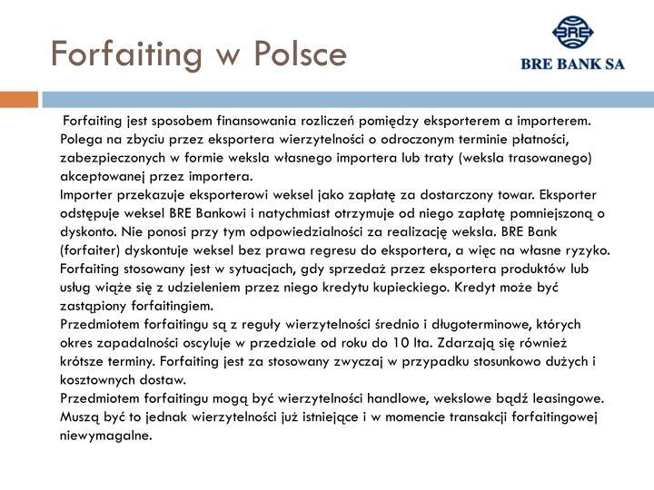 Forfaiting w Polsce