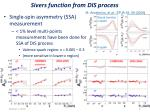 sivers function from dis process