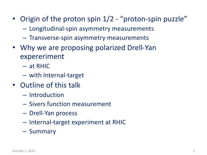 "Origin of the proton spin 1/2 - ""proton-spin puzzle"""