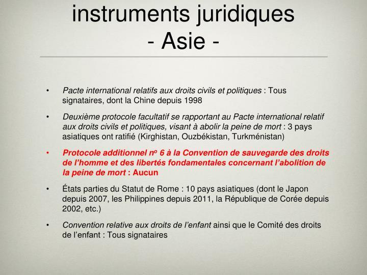 instruments juridiques