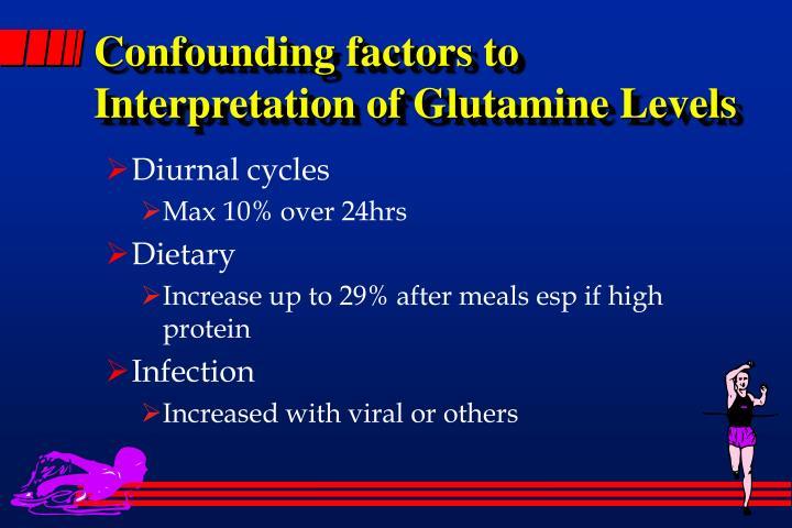 Confounding factors to Interpretation of Glutamine Levels