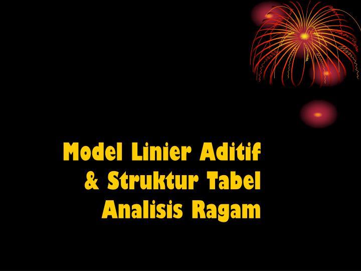Model Linier Aditif