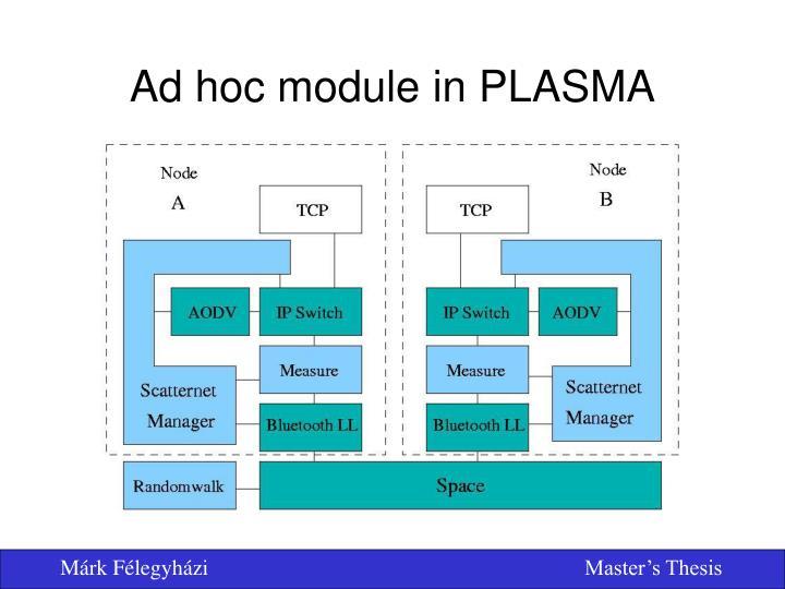 Ad hoc module in PLASMA