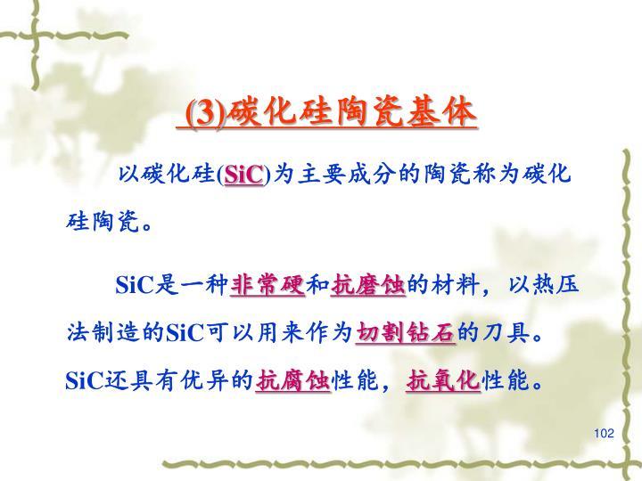 (3)碳化硅陶瓷基体