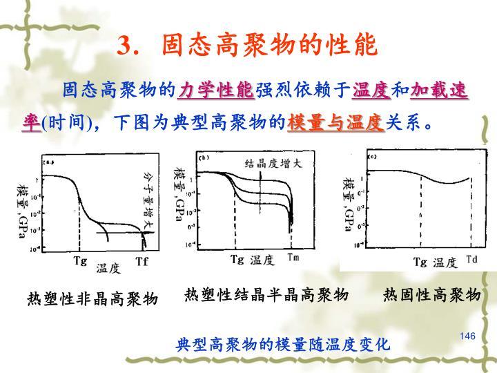 3.固态高聚物的性能