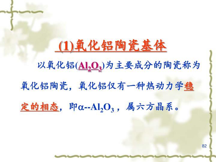 (1)氧化铝陶瓷基体