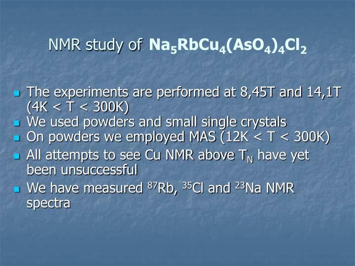 NMR study of