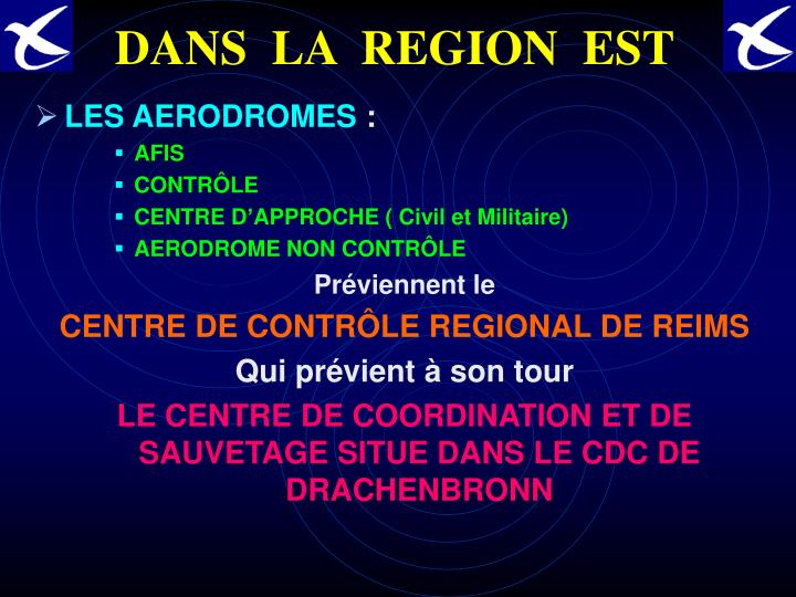 DANS  LA  REGION  EST