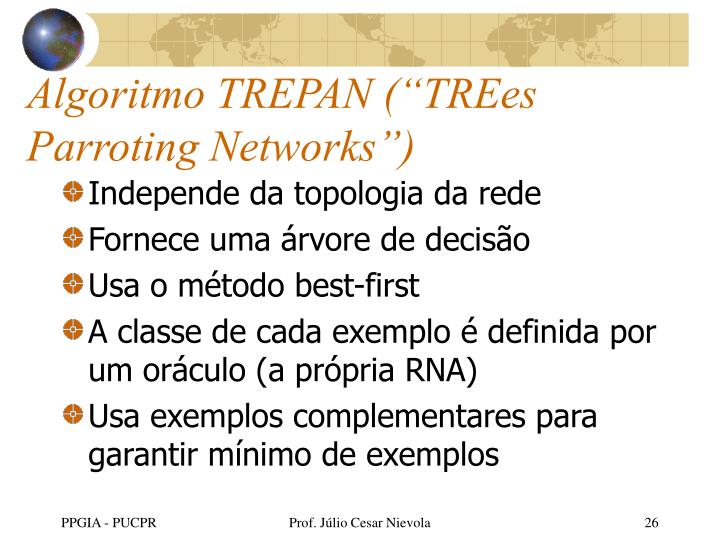 "Algoritmo TREPAN (""TREes Parroting Networks"")"