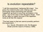 is evolution repeatable