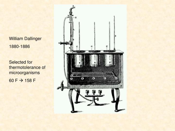 William Dallinger