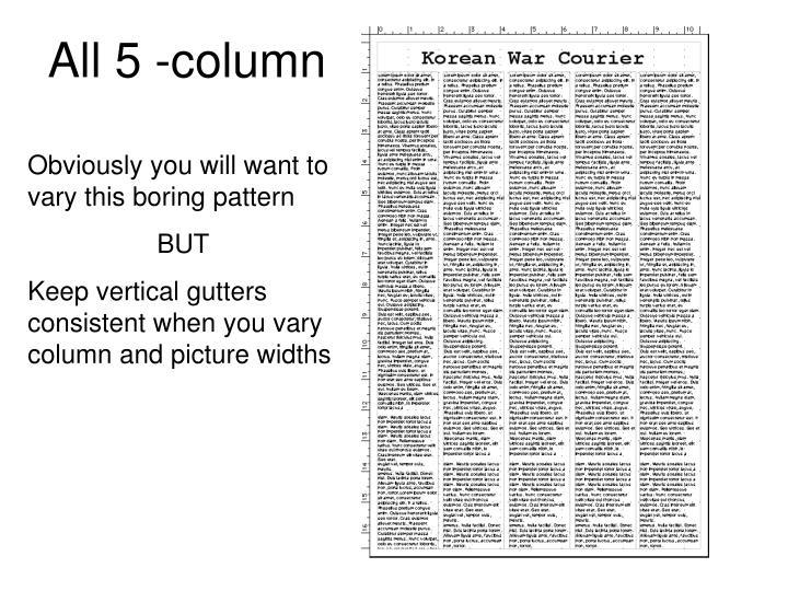 All 5 -column