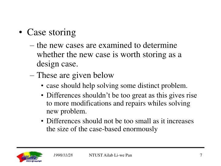 Case storing
