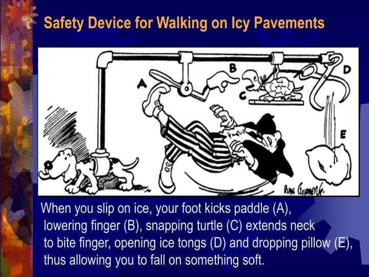 Safety Device for Walking on Icy Pavements