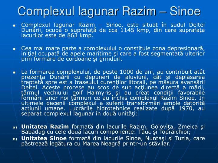 Complexul lagunar Razim  Sinoe