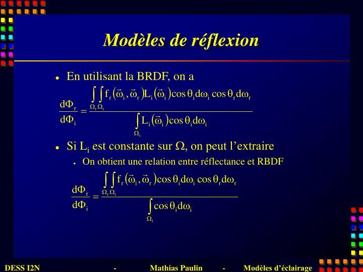 Modèles de réflexion