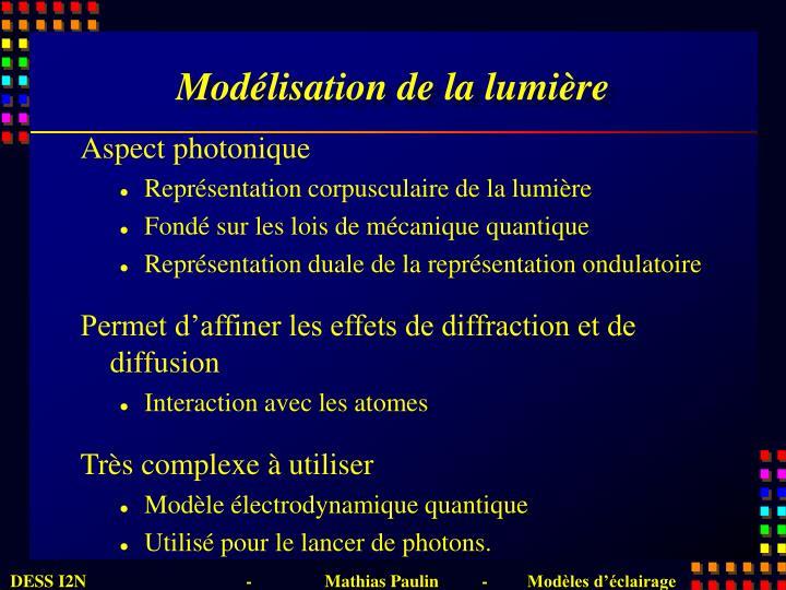 Modélisation de la lumière