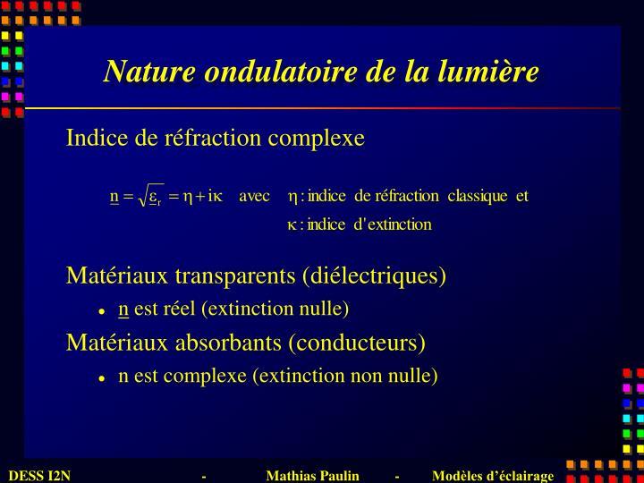 Nature ondulatoire de la lumière