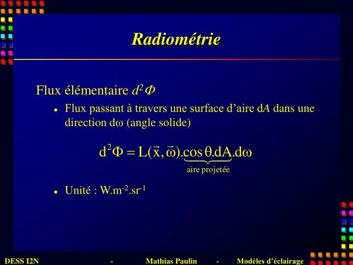 Radiométrie