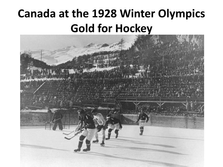 Canada at the 1928 Winter Olympics
