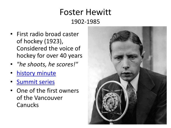 Foster Hewitt
