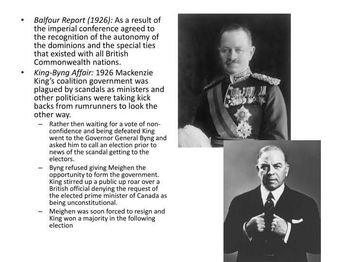 Balfour Report (1926):