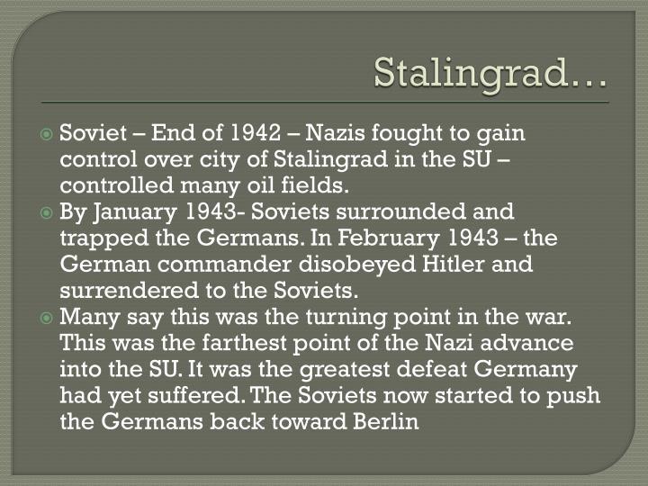 Stalingrad…