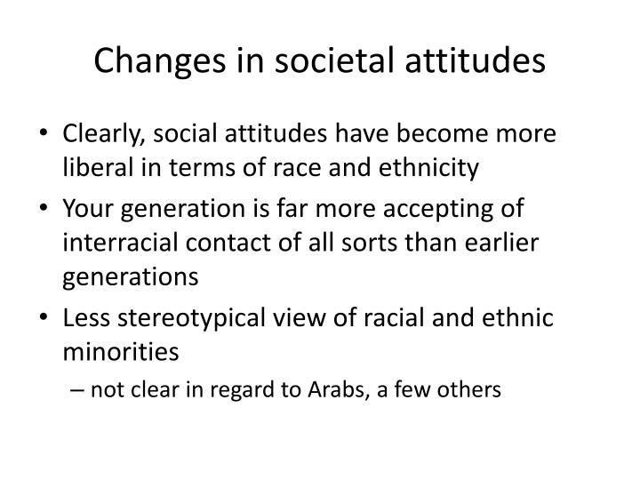 Changes in societal attitudes