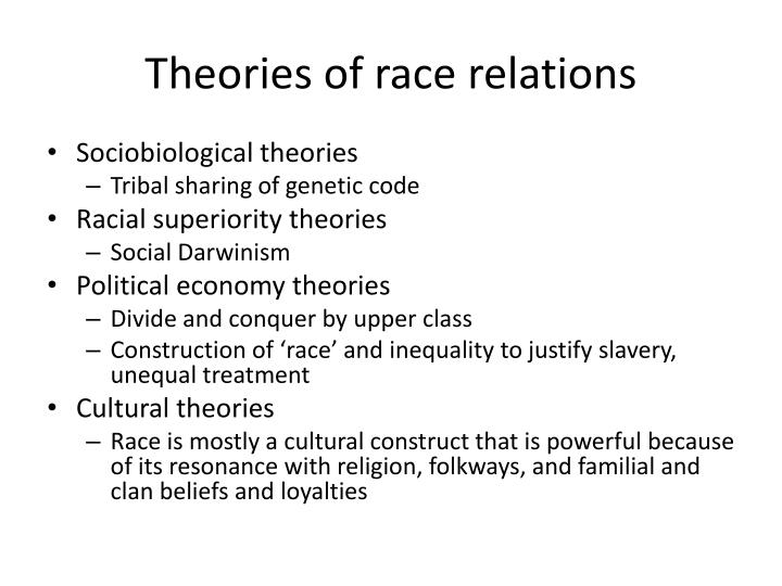 Theories of race relations