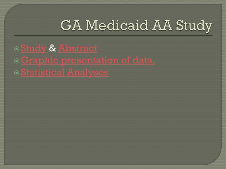 GA Medicaid AA Study