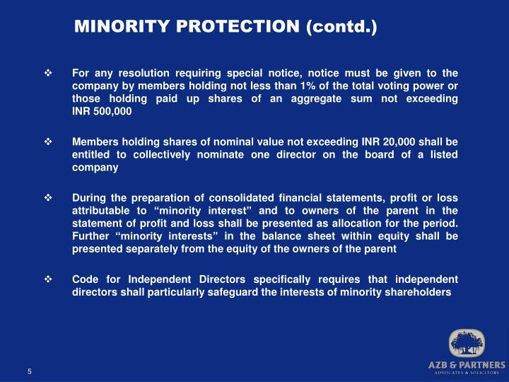 MINORITY PROTECTION