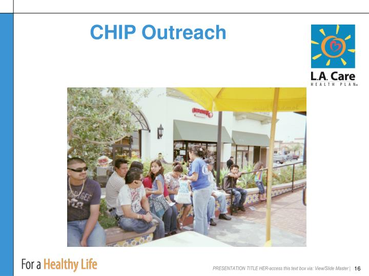 CHIP Outreach