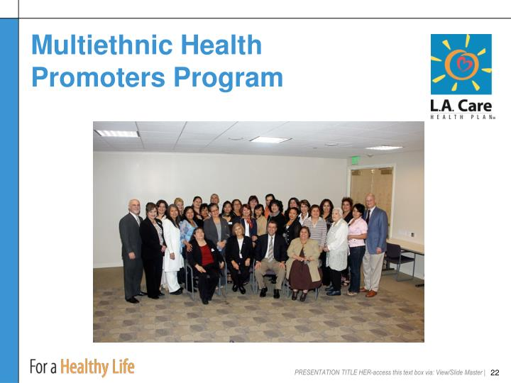 Multiethnic Health Promoters Program