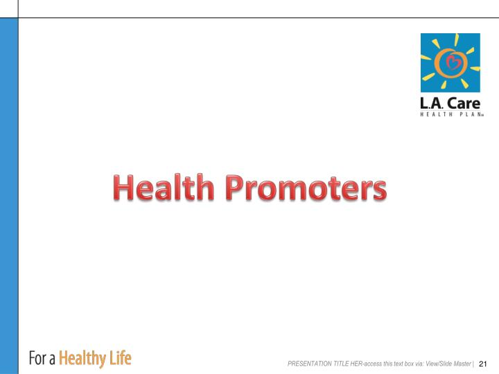 Health Promoters