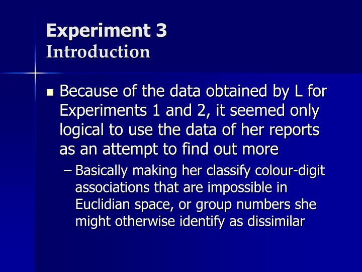 Experiment 3
