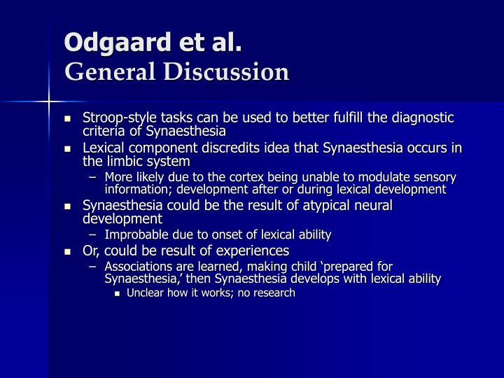 Odgaard et al.