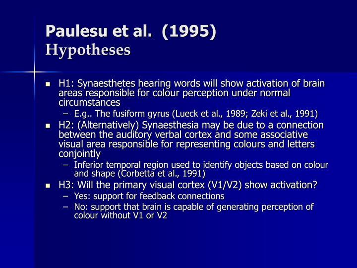 Paulesu et al.  (1995)