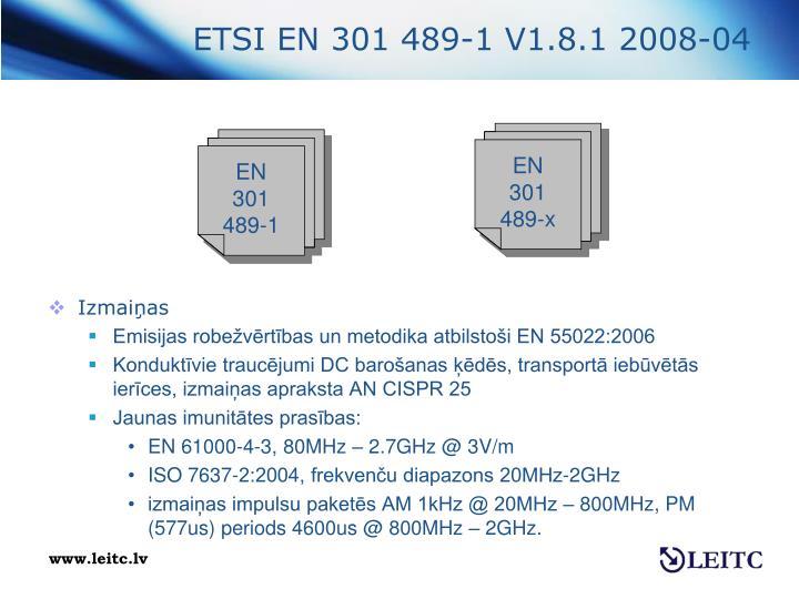 ETSI EN 301 489-1 V1.8.1 2008-04