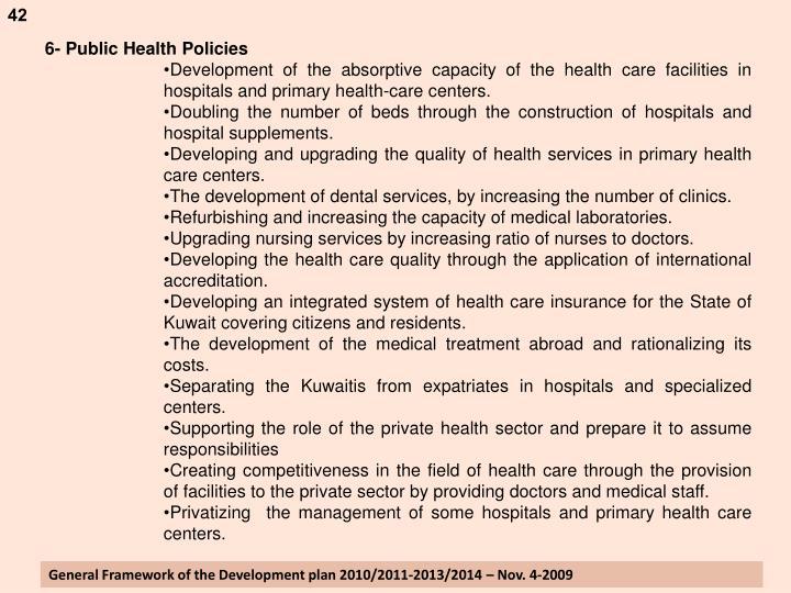 6- Public Health Policies