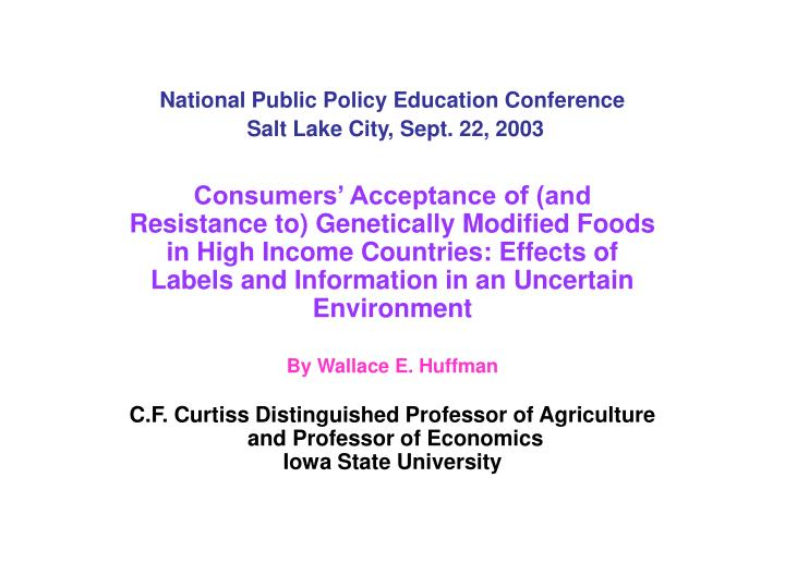National Public Policy Education Conference