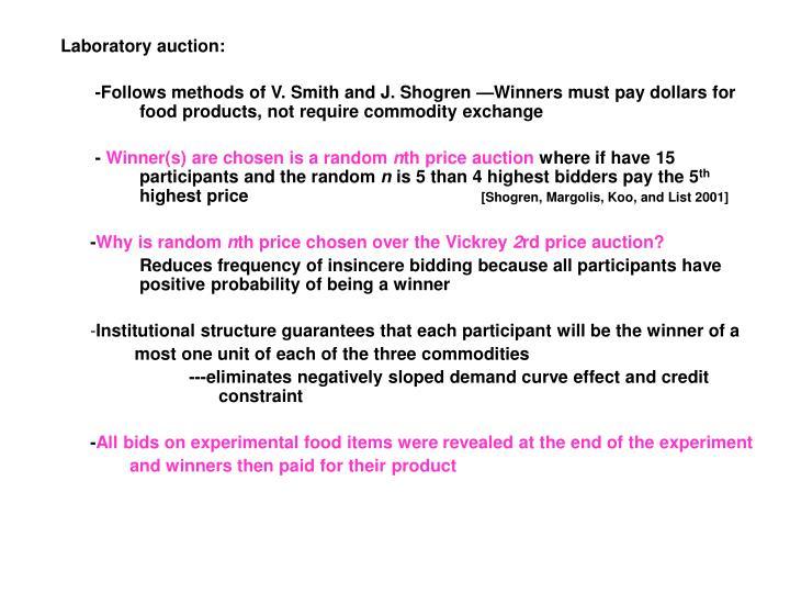 Laboratory auction: